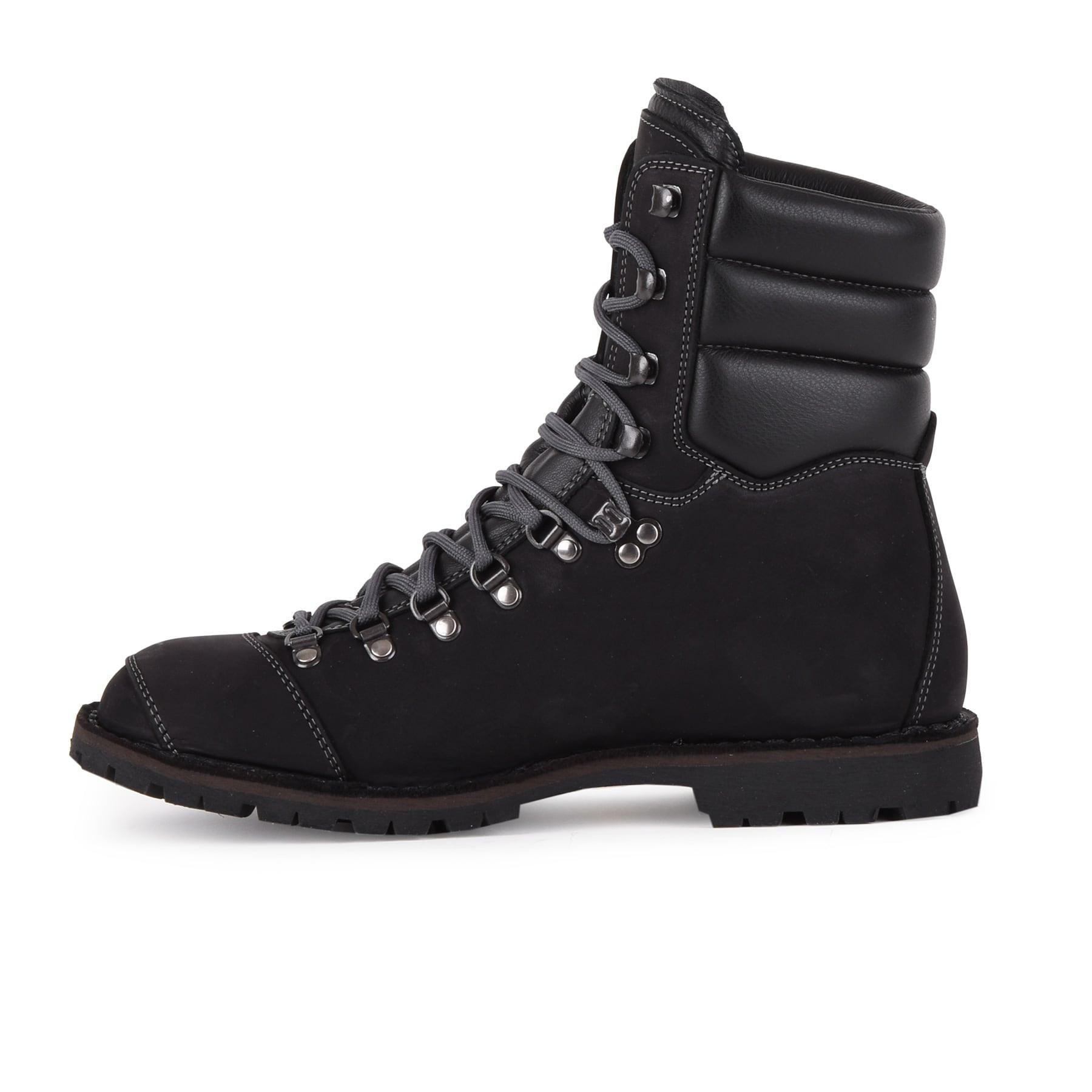 Biker Boot AdventureSE Denver Black, schwarzer Herren Stiefel, graue Nähte