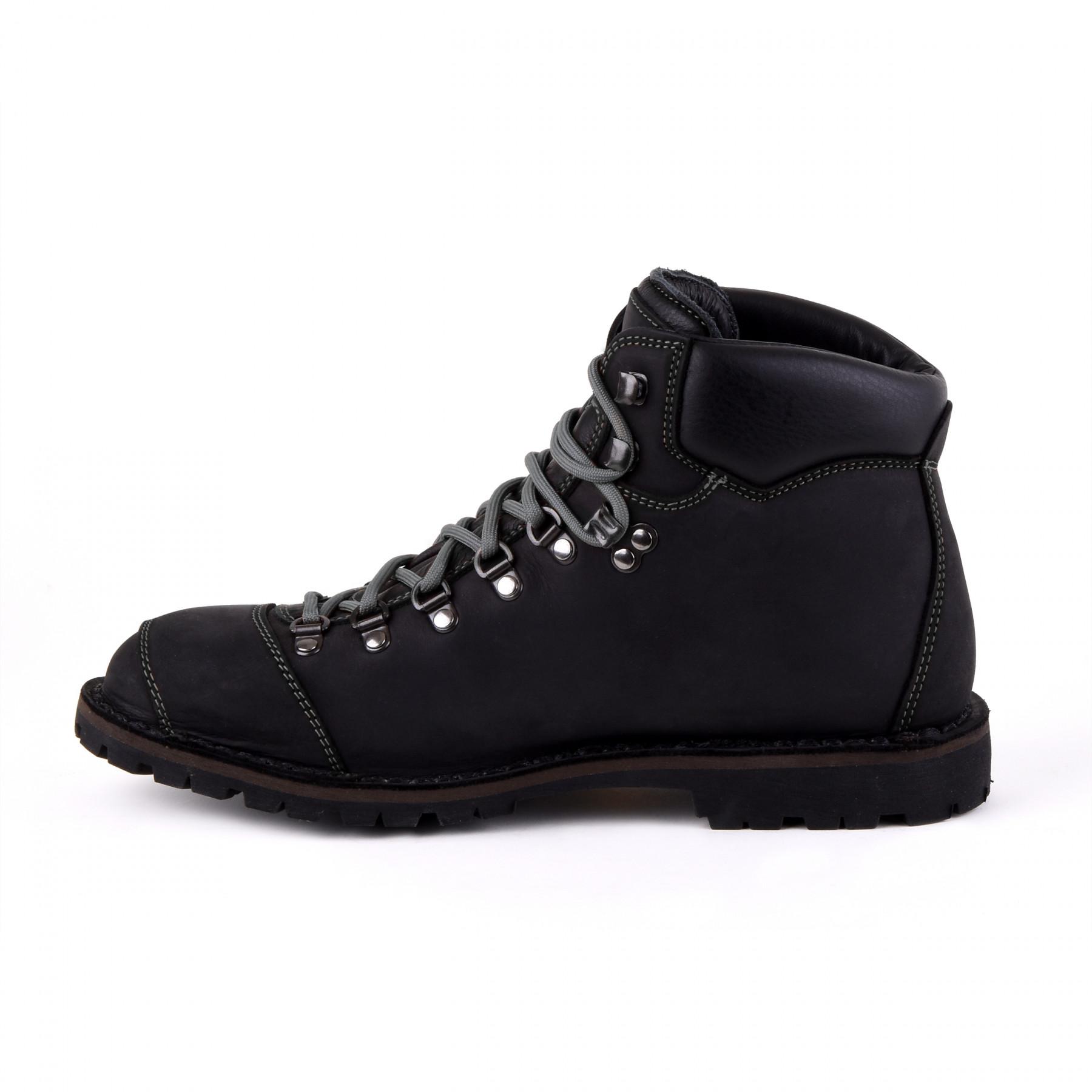 Biker Boot Adventure Denver Black, schwarze Damen Stiefel, graue Nähte