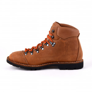 Biker Boot Adventure Denver Brandy, cognacfarbene Damen Stiefel, cremefarbene Nähte, Größe 36