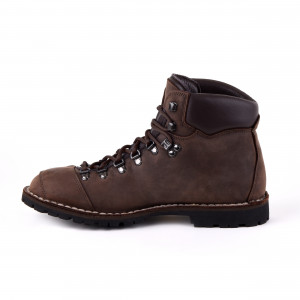 Biker Boot Adventure Denver Brown, dunkelbraune Damen Stiefel, dunkelbraune Nähte